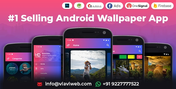 Android Wallpapers App (HD, Full HD, 4K, Ultra HD Wallpapers) - CodeCanyon Item for Sale