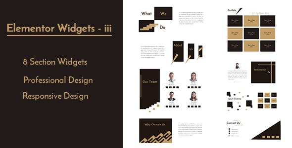 Elementor Widgets - iii - Professional and Unique Section Design Widgets