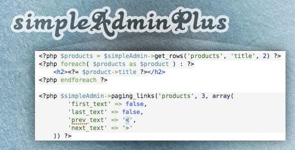 simpleAdminPlus