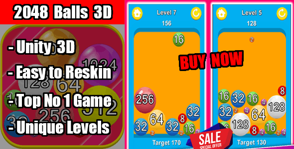 2048 Balls 3D Trending Game Unity Source Code Android & Ios