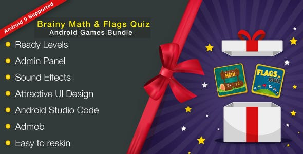 Brainy Math & Flags Quiz Android Games Bundle