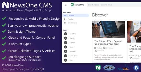 NewsOne CMS – News, Magazine & Blog Script