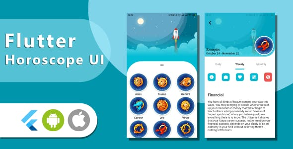Horoscope UI Kit Template