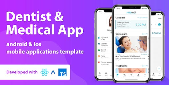 Dentist & Medical Mobile App Template With React Native