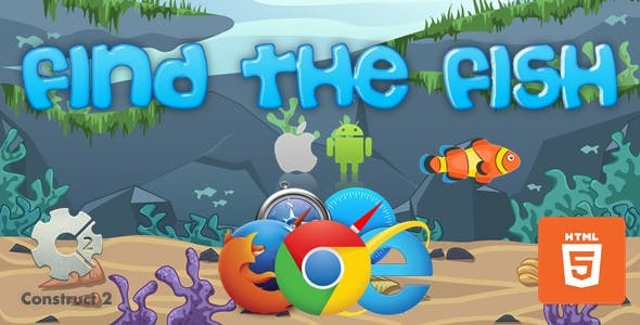 Find The Fish - HTML5 Construct 2 Game (.Capx)