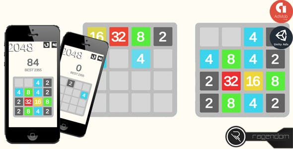 2048 - Complete Unity Game + Admob