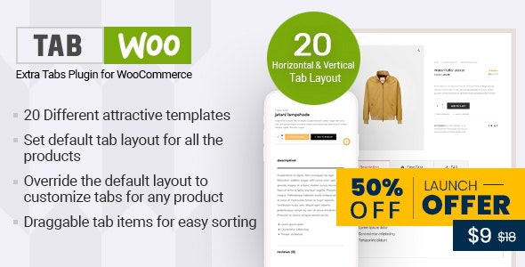 TabWoo - Custom Product Tabs for WooCommerce - CodeCanyon Item for Sale