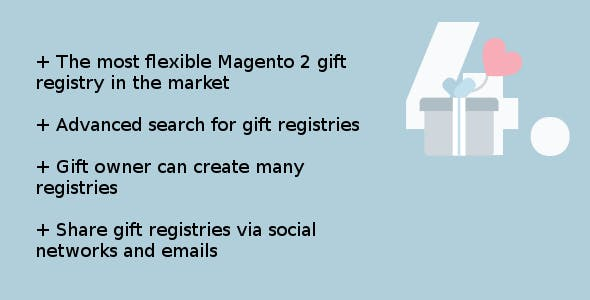 Magento 2 advanced gift registry