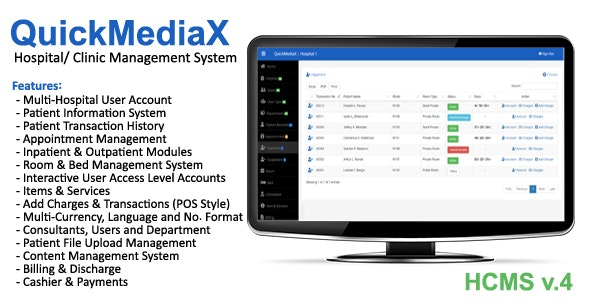 QuickMediaX - Hospital/Clinic Management System - CodeCanyon Item for Sale