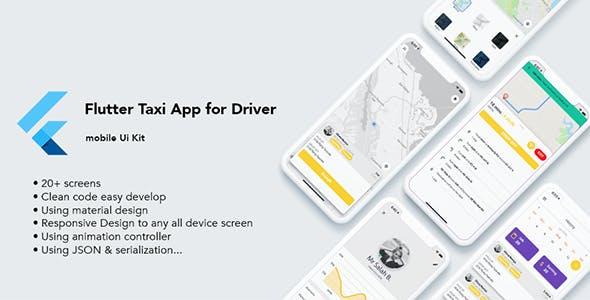 Flutter Taxi App Driver Ui Kit