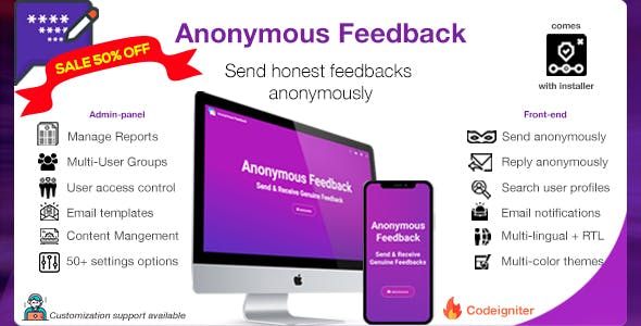 Anonymous Feedback - Get honest feedback