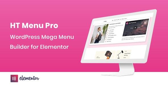 HT Menu Pro v1.0.3 – WordPress Mega Menu Builder for Elementor