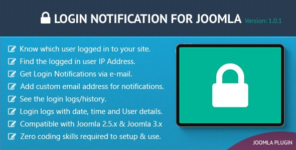 Login Notification for Joomla - CodeCanyon Item for Sale