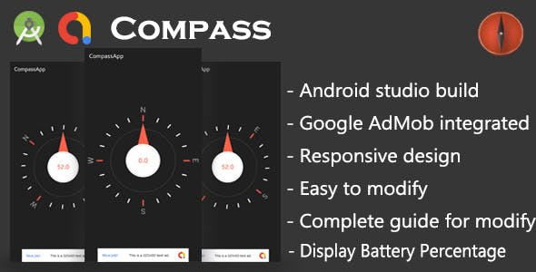 Android Compass App with Google AdMob