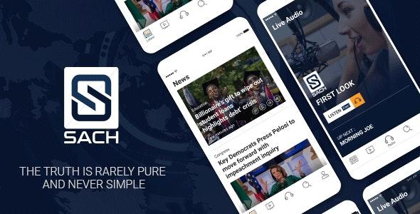 Sach - News App iOS Template - CodeCanyon Item for Sale