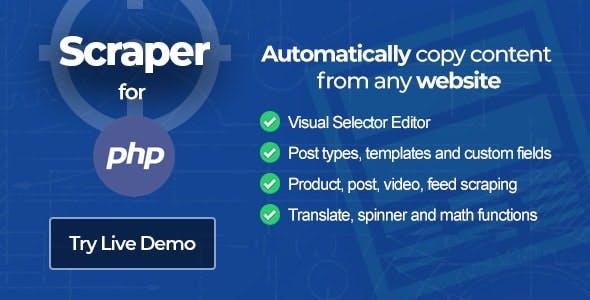 Scraper - Content Crawler PHP Edition