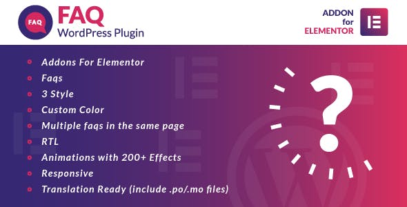 Faq for Elementor WordPress Plugin