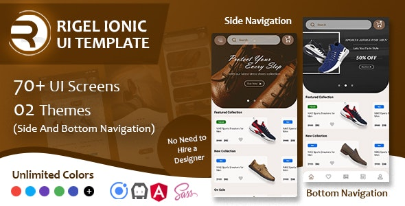 Rigel - Ionic 4 Ecommerce UI Template - CodeCanyon Item for Sale
