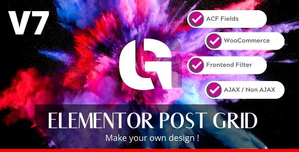 Elementor Post Grid Builder - Frontend Sort and Filter