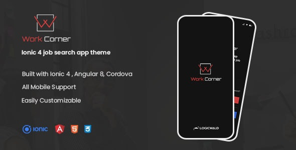 Work Corner - Ionic 4 job search app theme - CodeCanyon Item for Sale