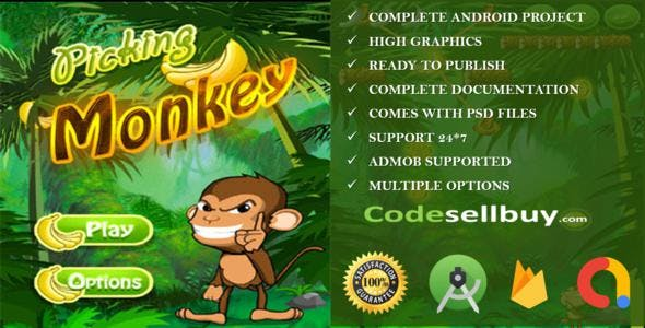 Jungle Monkey full android game with admob(Banner+interstial)