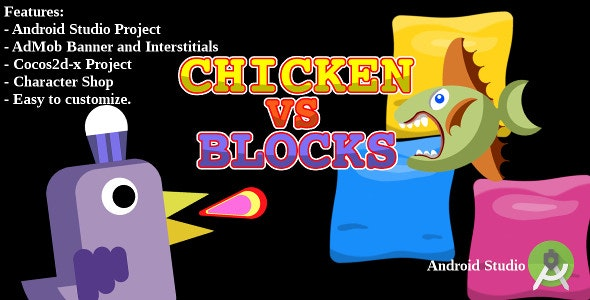 Chicken vs Blocks - AdMob - Android Studio - CodeCanyon Item for Sale