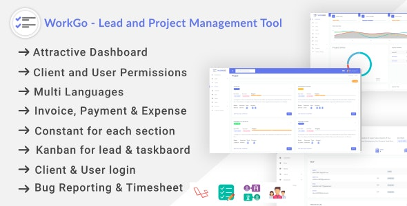 WorkGo - Lead and Project Management Tool - CodeCanyon Item for Sale