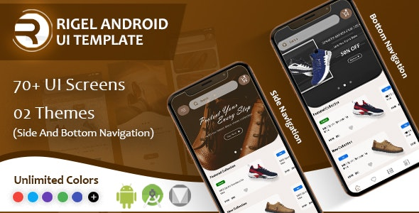 Rigel - Native Android Ecommerce UI Template - CodeCanyon Item for Sale