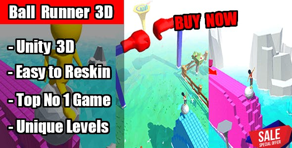 Ball Runner 3D Game Unity Source Code(Template) Android & Ios
