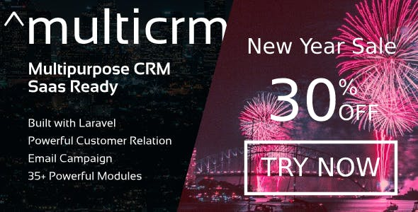 ^Multicrm - Multipurpose Powerful Laravel CRM. Saas Ready. New Year Sale 30% OFF