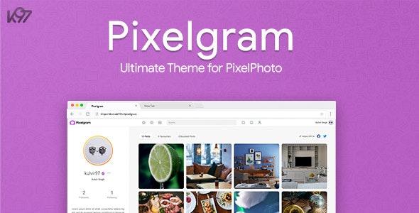Pixelgram - The Ultimate PixelPhoto Theme - CodeCanyon Item for Sale