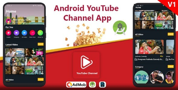 Android YouTube video App and Admin Panel
