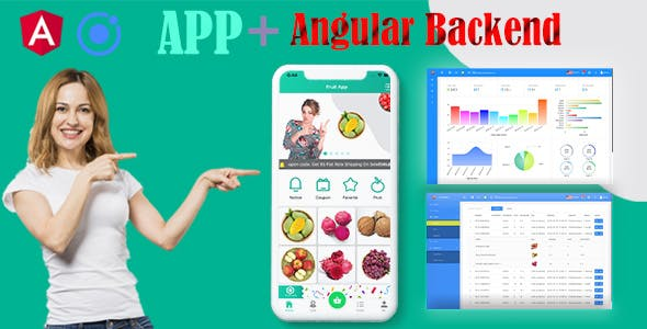 Ionic 5 Fruit Full App with Firebase/Angular Dashboard backend