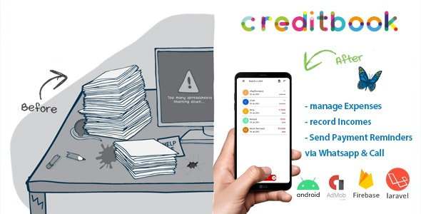 CreditBook | Start Online Credit Android App | PHP Backend - CodeCanyon Item for Sale