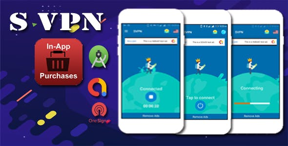 S vpn- with 39 unlimited free server in app purchase  push notification