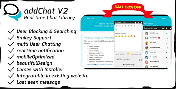 AddChat - Codeigniter Chat Widget
