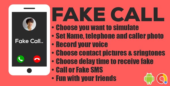 Fake Call   Fake Video Call   Dialogflow Message   Auto Message Bot System  Android App   Admob