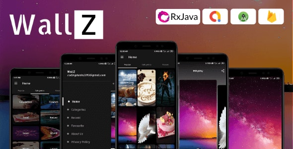 WallZ - Android Wallpaper App (4K, HD, Full HD, Ultra HD Wallpapers) - CodeCanyon Item for Sale