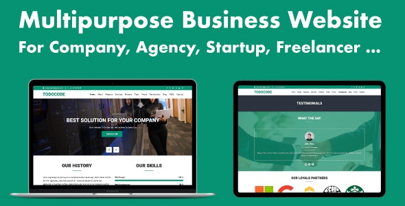 Multipurpose Business Website for Company, Agency, Startup - CodeCanyon Item for Sale