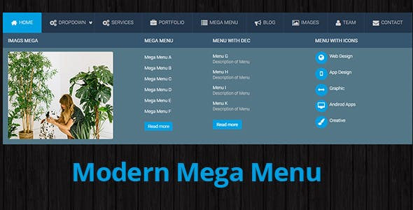 Modern Mega Menu
