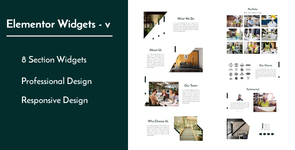 Elementor Widgets - v - Professional and Unique Section Design Widgets - CodeCanyon Item for Sale