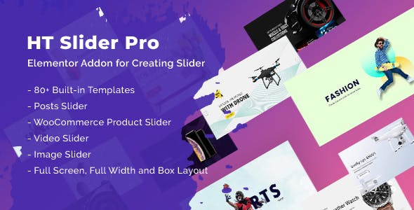 HT Slider Pro For Elementor