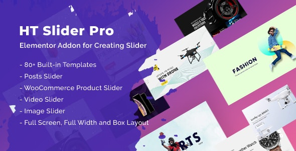 HT Slider Pro For Elementor - CodeCanyon Item for Sale
