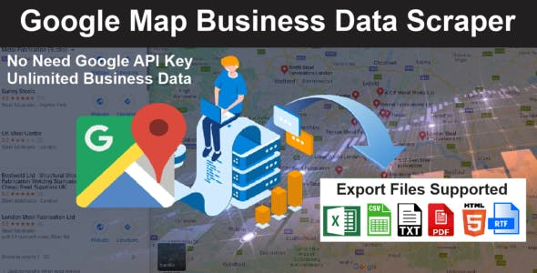 Google Map Business Data Scraper with images