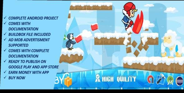 Ice Climber game Complete Android Studio Game with Admob