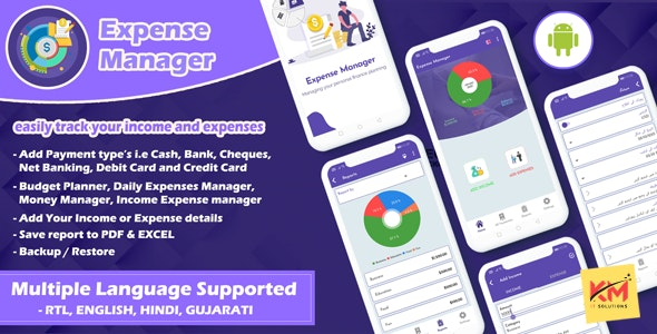 Android App Expense Manager - CodeCanyon Item for Sale