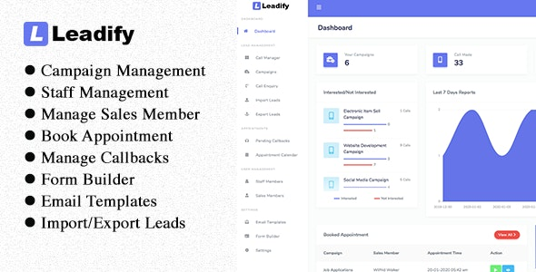 Leadify - Lead & Call Center CRM - CodeCanyon Item for Sale
