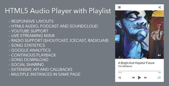 Modern Audio Player Wordpress Plugin - CodeCanyon Item for Sale