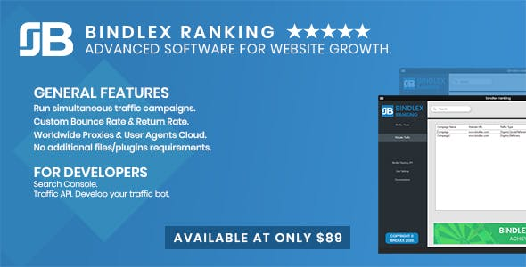 Bindlex Ranking. Advanced software for Website Growth.
