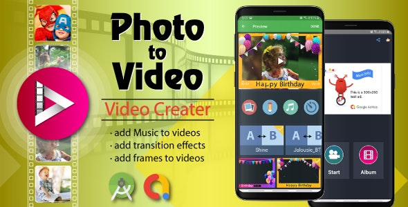 Photo Video Maker With Music - Android Source Code - CodeCanyon Item for Sale